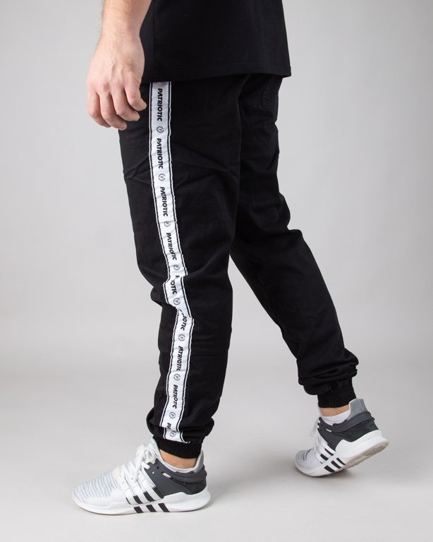 PATRIOTIC CHINO JOGGER TAPE BLACK