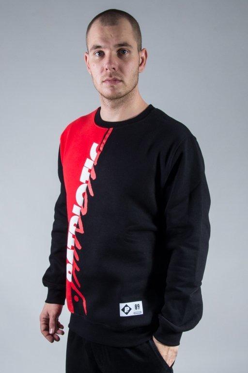 PATRIOTIC CREWNECK F TAG CUT BLACK-RED