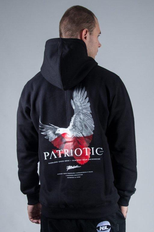 PATRIOTIC HOODIE ZIP EAGLE BLACK-RED