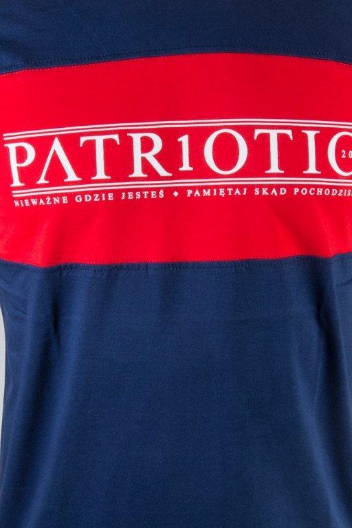 PATRIOTIC T-SHIRT GREEK NAVY-RED