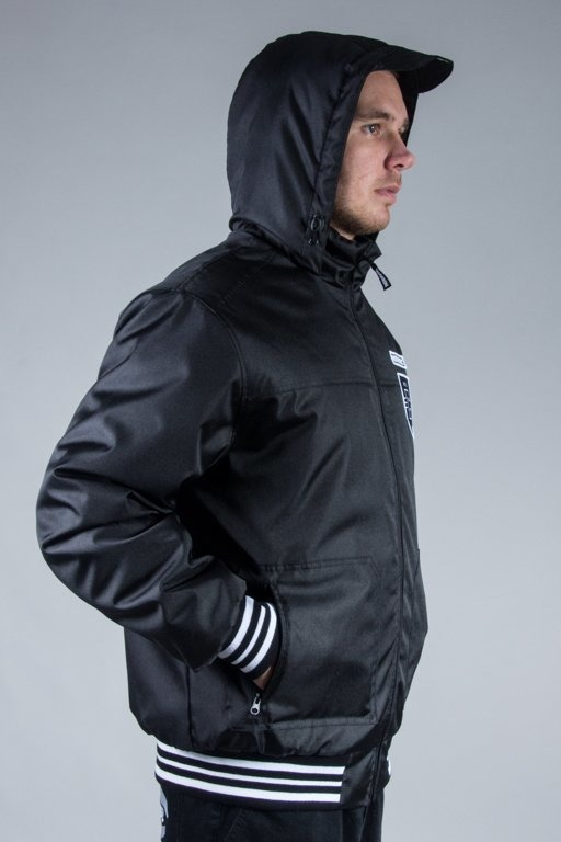 PATRIOTIC WINTER JACKET SHIELD ATHLETIC BLACK