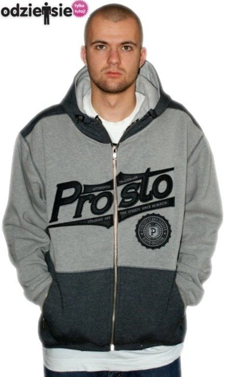 PROSTO BLUZA ZIP STAMP DARK GREY