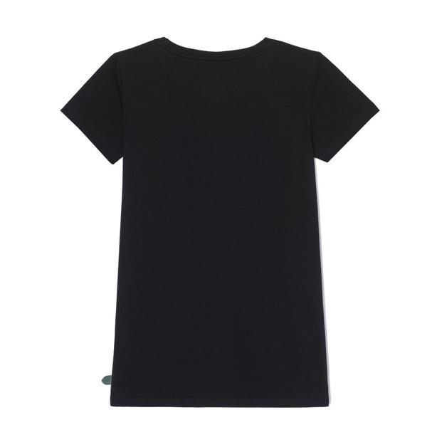 PROSTO T-SHIRT LEAF BLACK