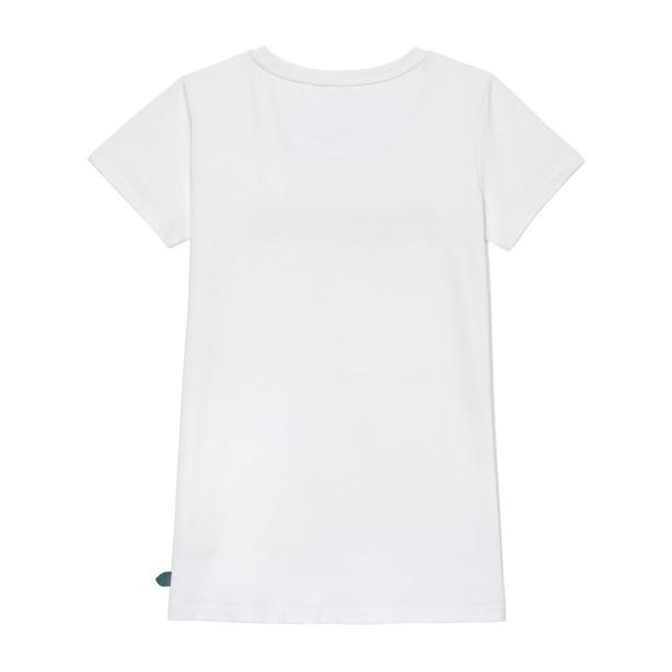 PROSTO T-SHIRT LEAF WHITE