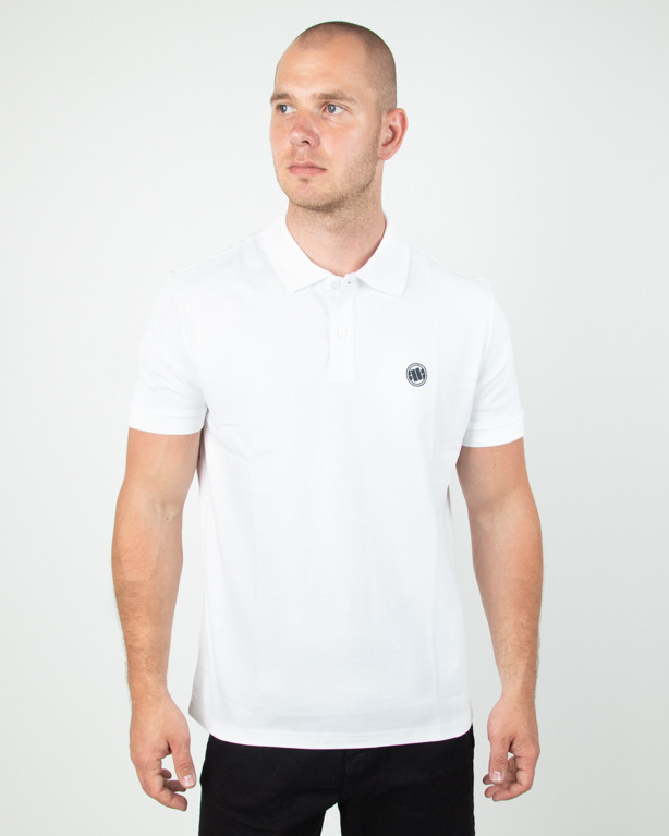 Koszulka Pitbull Polo Circle Logo White