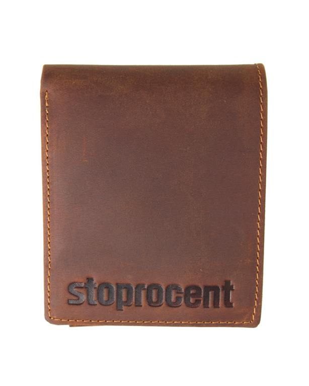 Portfel Stoprocent Classic Leather Brown