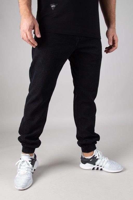 Prosto Spodnie Jeansy Jogger Standard Black