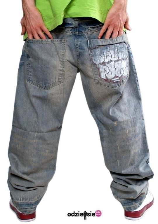SOUTHPOLE SPODNIE JEANS GRAFFITI LIGHT WASH