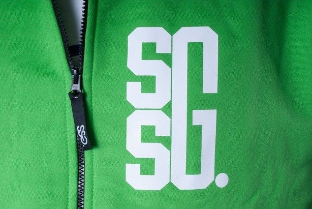 SSG BLUZA Z KAPTUREM ZIP BIG G GREEN