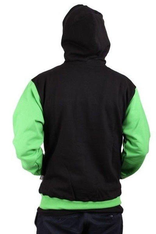 SSG BLUZA ZIP HORIZONTAL BLACK-GREEN