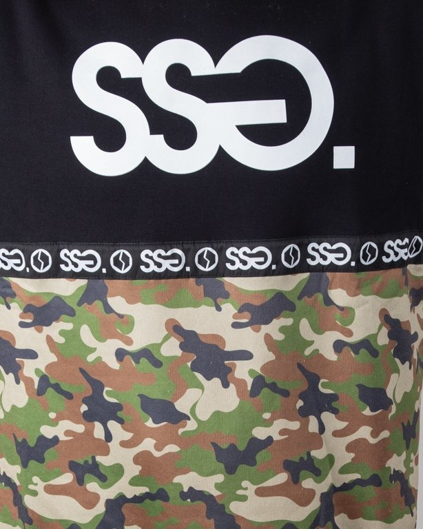 SSG CREWNECK HALF MORO BLACK