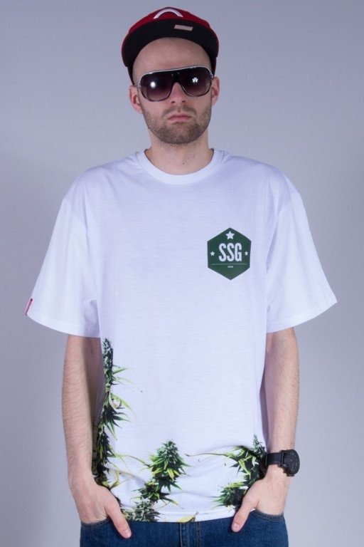 SSG KOSZULKA PLANT WHITE