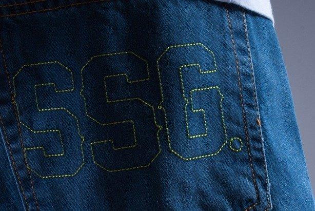 SSG SPODNIE JEANS SSG OUTLINE BLUE-GREEN