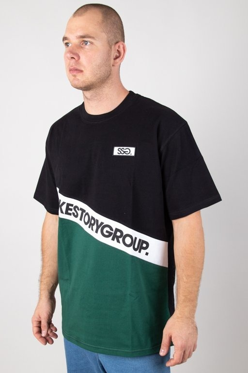 SSG Smoke Story Group Koszulka T-shirt Slant Black-Green