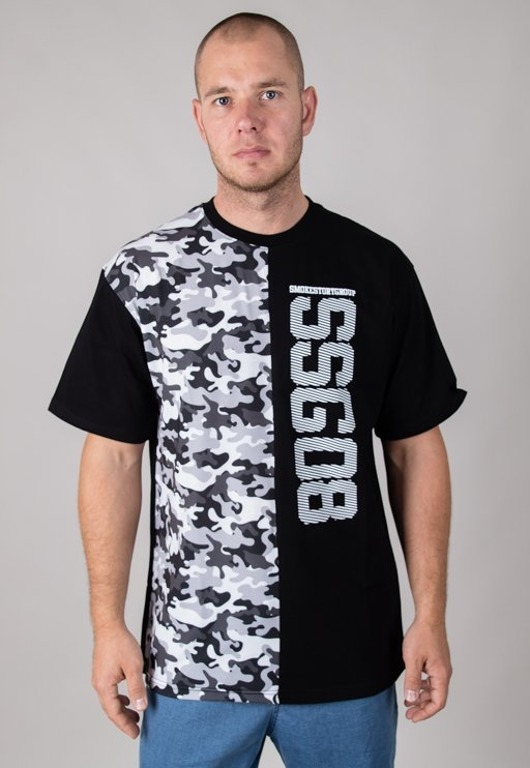 SSG T-SHIRT HORIZONTAL MORO BLACK-CAMO GREY