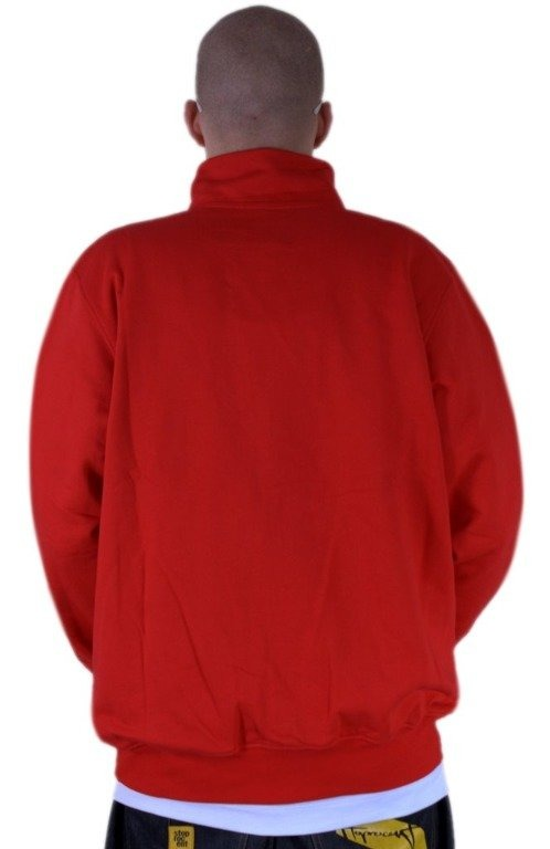 STOPROCENT BLUZA BEZ KAPTURA ZIP FOOTBALL FRONT TAG RED