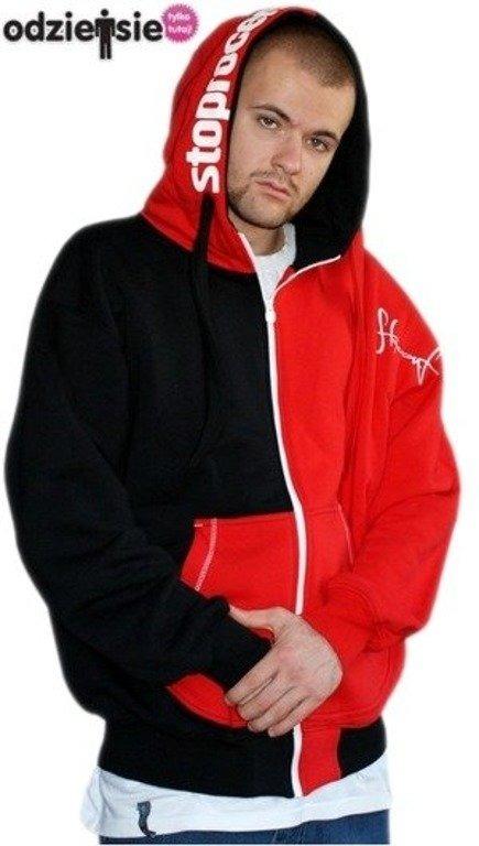 STOPROCENT BLUZA ROBIN BLACK-RED