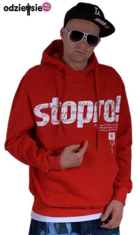 STOPROCENT BLUZA Z KAPTUREM BMS STOPRO! RED