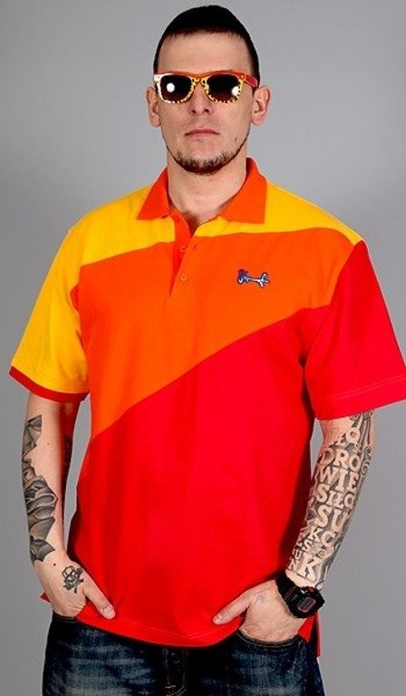 STOPROCENT KOSZULKA POLO CLASSIC TRICOLOR RED