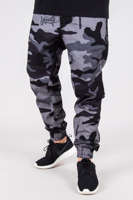 STOPROCENT PANTS CHINO JOGGER CLASSIC CAMO GREY