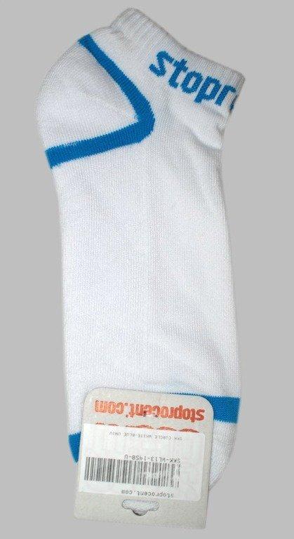 STOPROCENT SKARPETKI CIRCLE WHITE-BLUE