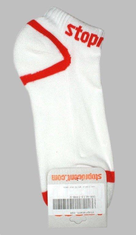 STOPROCENT SKARPETKI CIRCLE WHITE-RED