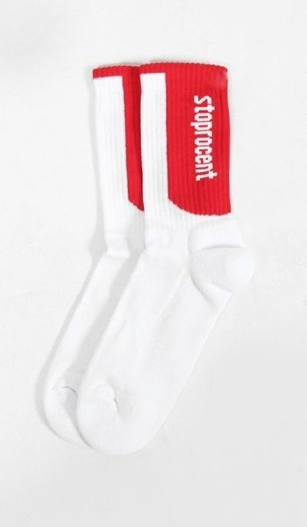 STOPROCENT SKARPETKI SIMPLE WHITE-RED