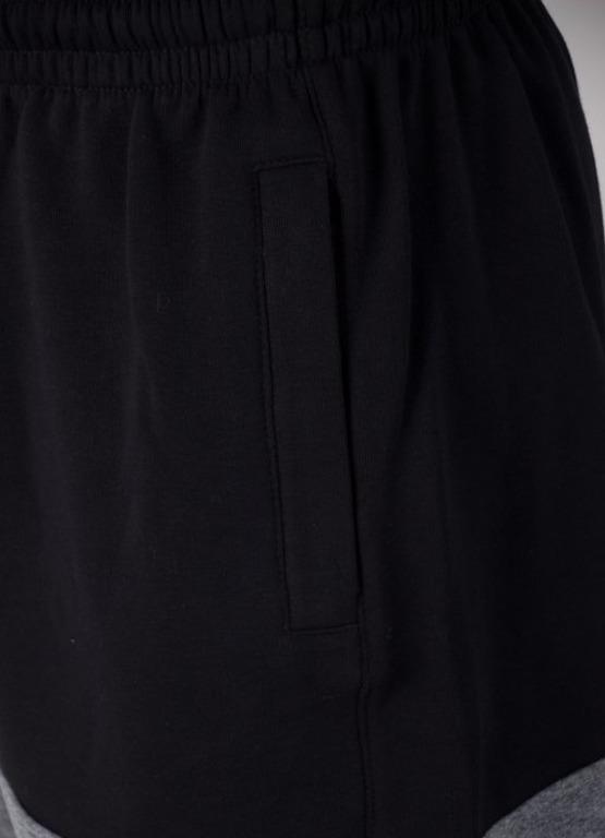 Spodenki SSG Dresowe Premium Light Double Black-Grey