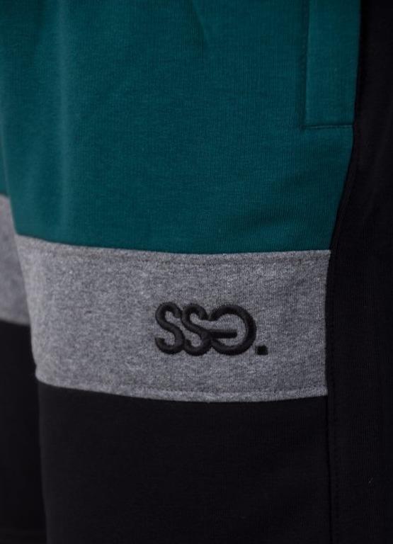 Spodenki SSG Dresowe Premium Light Triple Black-Green