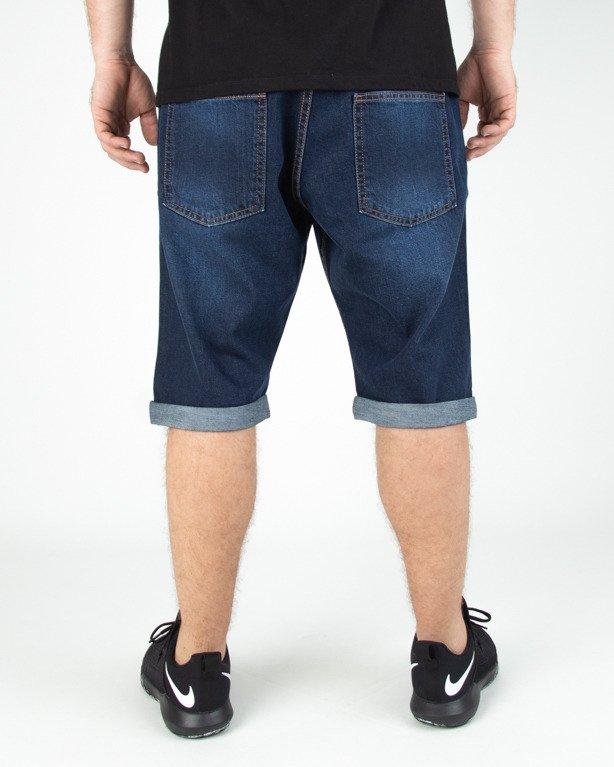 Spodenki Stoprocent Jeans Skull Dark Blue