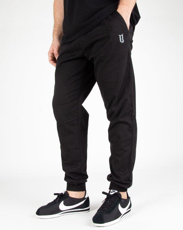 Spodnie Bor Chino Jogger Fit B-Logo Black