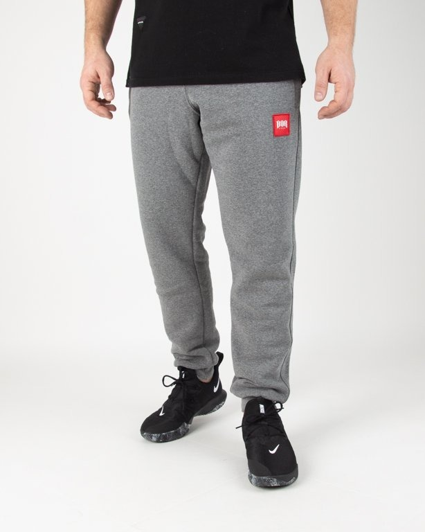 Spodnie Bor Dresowe New Kwadrat Grey