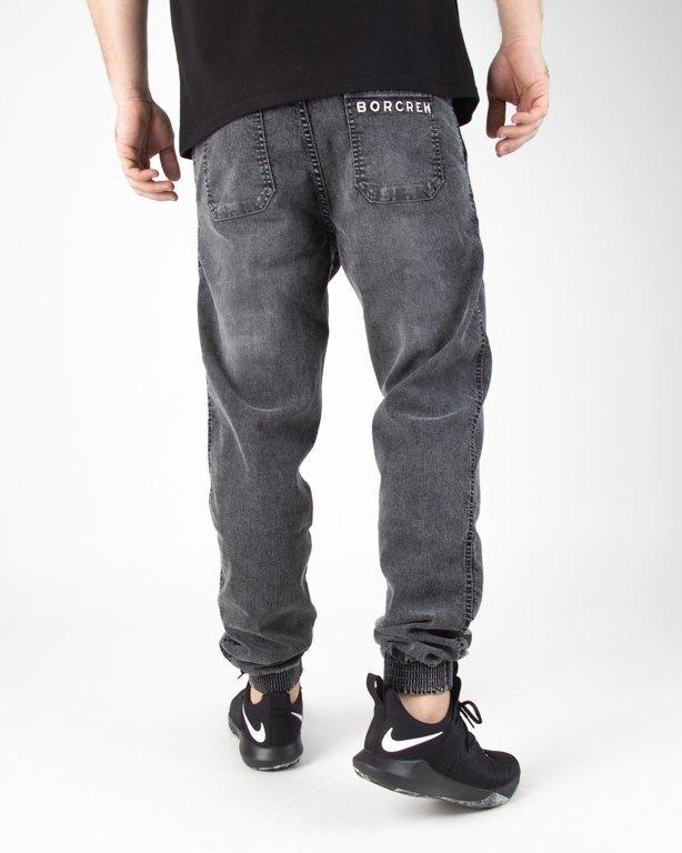 Spodnie Bor Jeansy Jogger Classic Borcrew Grey