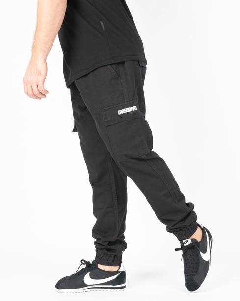 Spodnie Chino Jogger Mass Cargo Black