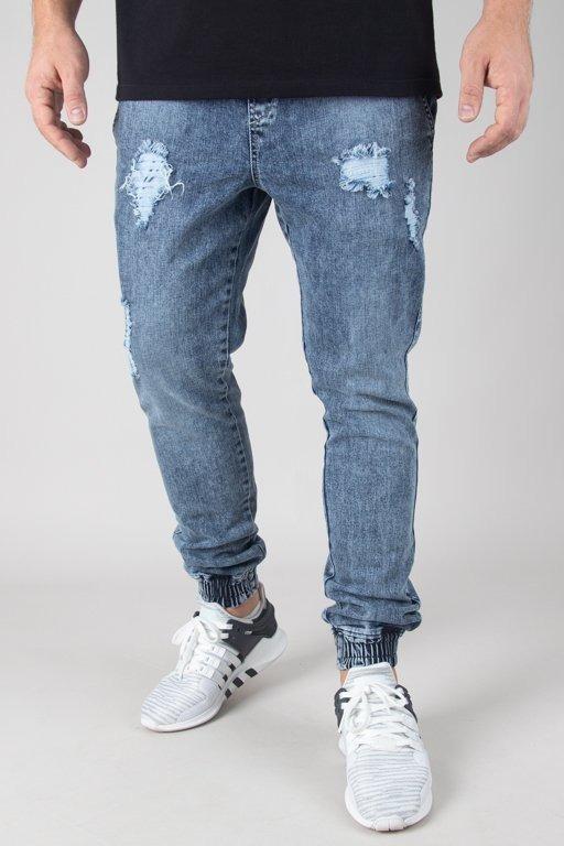 Spodnie Diamante Wear Jeansy Jogger Ripped Marmur