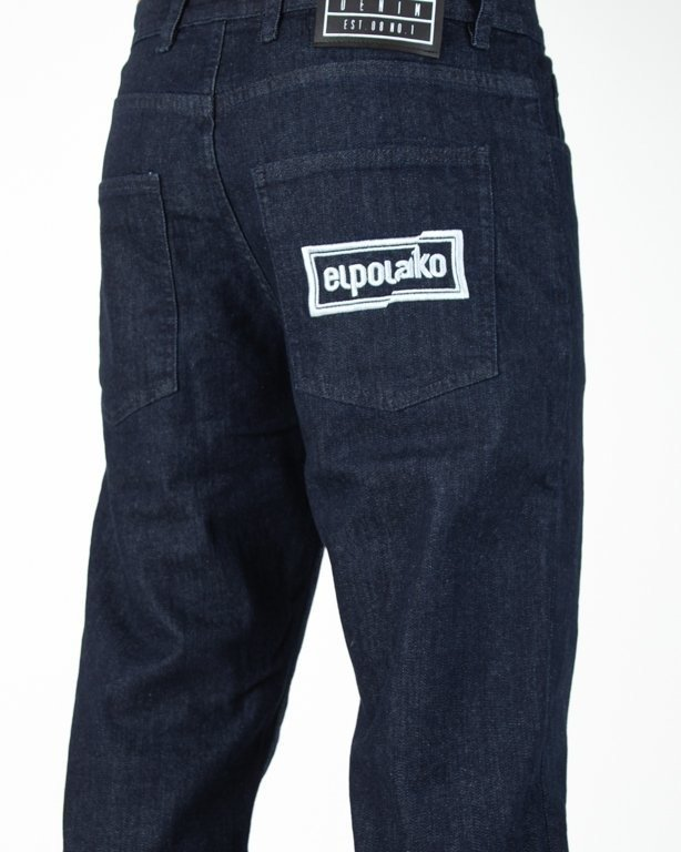Spodnie El Polako Jeansowe Slim Cut Colors Dark