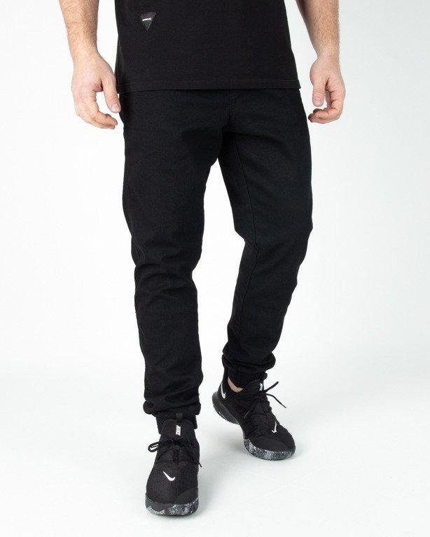 Spodnie El Polako Jogerry Jeansowe Slim Skórka Black