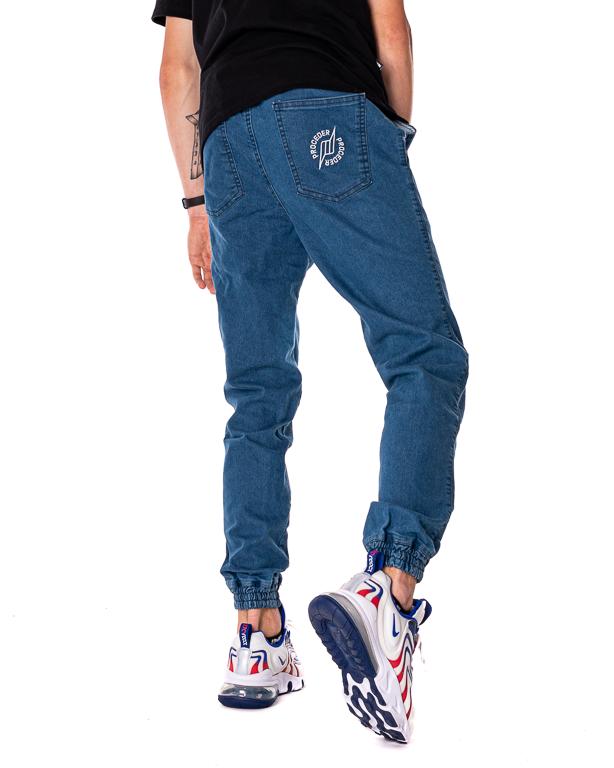 Spodnie Jeans Jogger Proceder Barbed Wire Ring Jasnoniebieskie