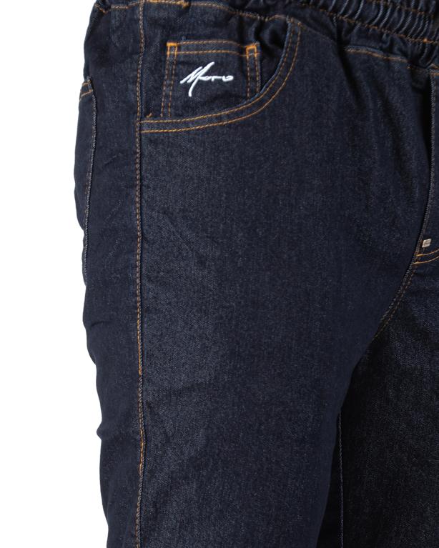 Spodnie Jogger Moro Mini Paris Pocket Ciemne Pranie Jeans