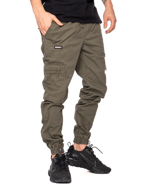 Spodnie Materiałowe Jogger Bojówki Diamante Wear V3 Khaki