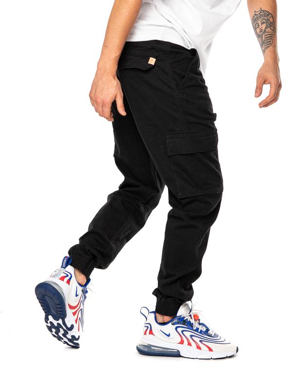 Spodnie Materiałowe Jogger Bojówki Slim Ssg Czarne
