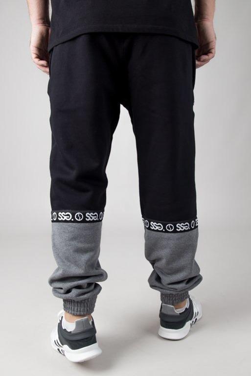 Spodnie SSG Dresowe Jogger Part Line Black