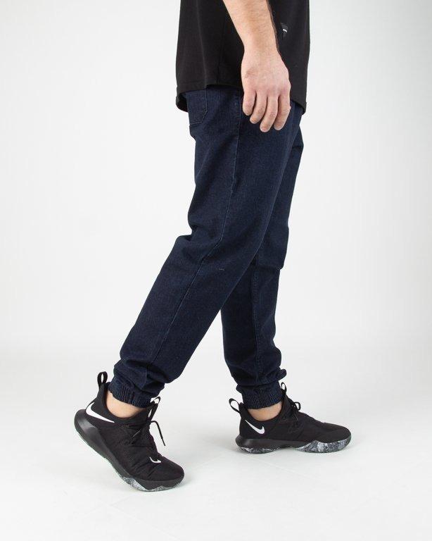 Spodnie SSG Jeansy Jogger Slim Haft Dark