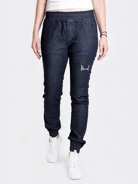 Spodnie Stoprocent Jeans Jogger Woman Highjogger Dark