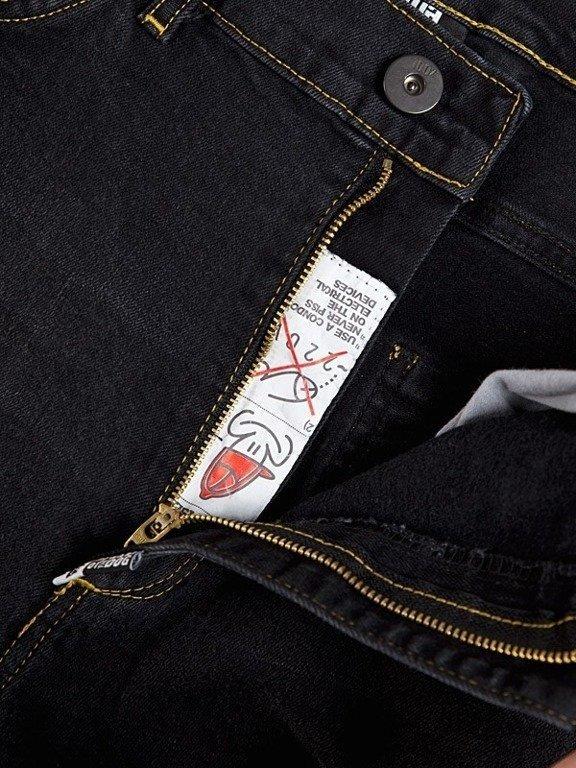 Spodnie Stoprocent Jeansowe Carrot Warning Black