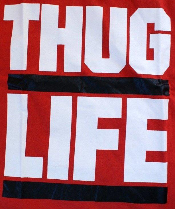 THUG LIFE KOSZULKA DMC RED