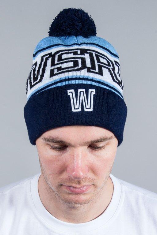 WSRH WINTER CAP POMPON W BLUE