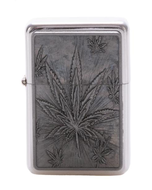 Zapaliczka Metalowa Ganja Silver 40