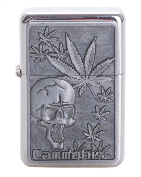 Zapaliczka Metalowa Skull Silver 38