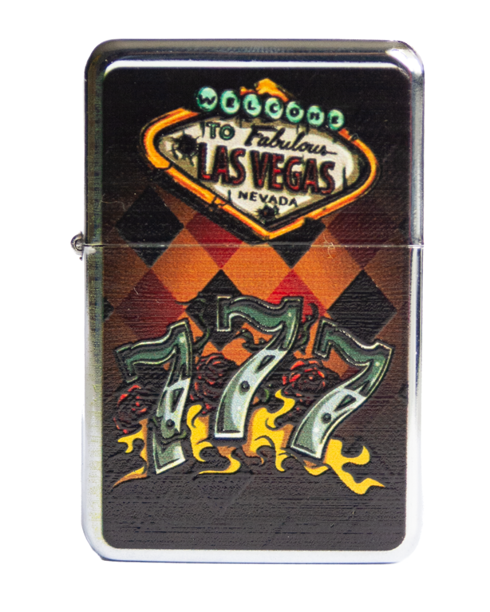 Zapaliczka Metalowa Three Sevens Silver 65